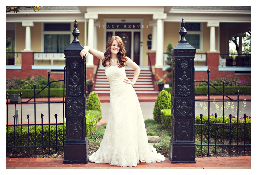Bridal portrait session of Marandah Vick at the Heard-Craig House in historic downtown McKinney by Dallas wedding photographer Stacy Reeves