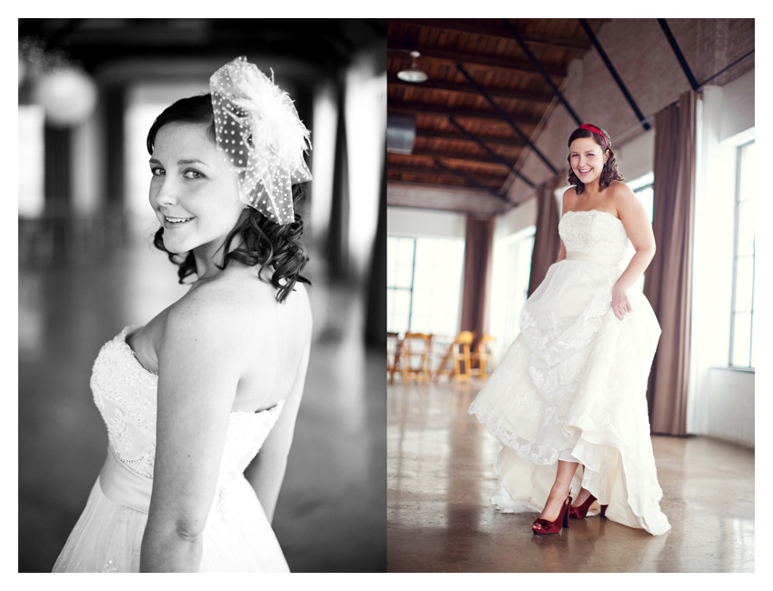 bridal session of Angela Brock at Hickory Street Annex in downtown by vintage wedding photographer Stacy Reeves
