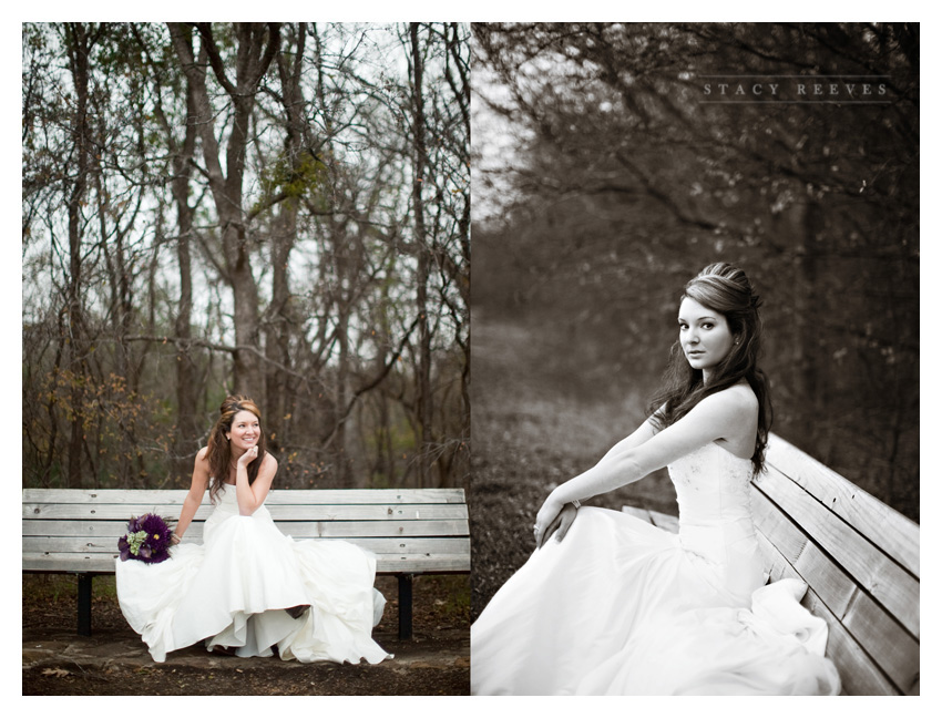 bridal session photos of Abigail Abby Wilder Boatwright at River Legacy Park in Arlington by Dallas wedding photographer Stacy Reeves