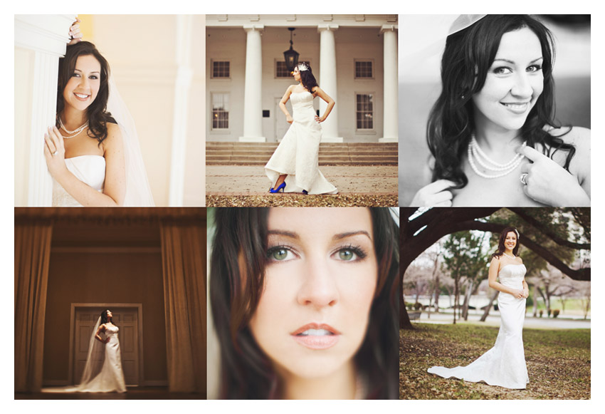 bridal photo portraits of Julie Lasater Beal at Arlington Hall in Dallas by Texas wedding photographer Stacy Reeves
