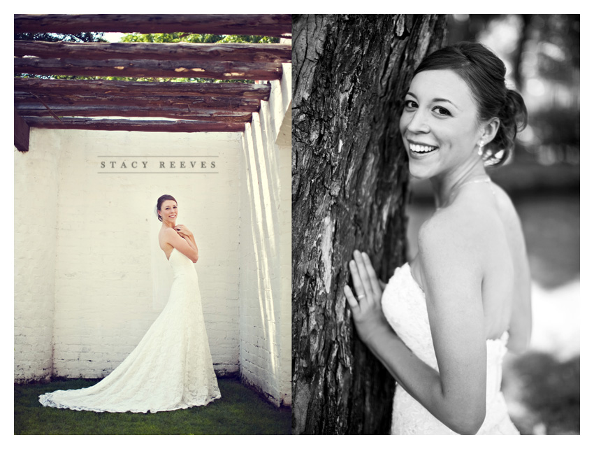 Bridal portrait session of Lisa Kirk Speer at the Dallas Arboretum by Dallas wedding photographer Stacy