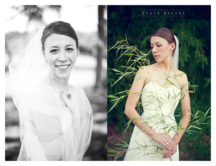 Bridal portrait session of Lisa Kirk Speer at the Dallas Arboretum by Dallas wedding photographer Stacy Reeves