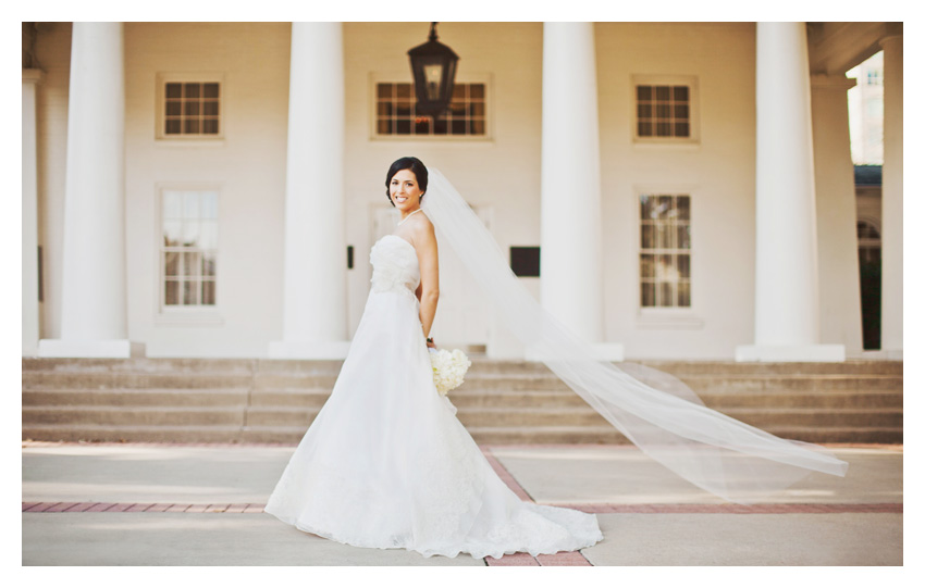 Bridal portrait photos of Melissa Davis Weigand at Arlington Hall and Lee Park in Turtle Creek by Dallas wedding photographer Stacy Reeves