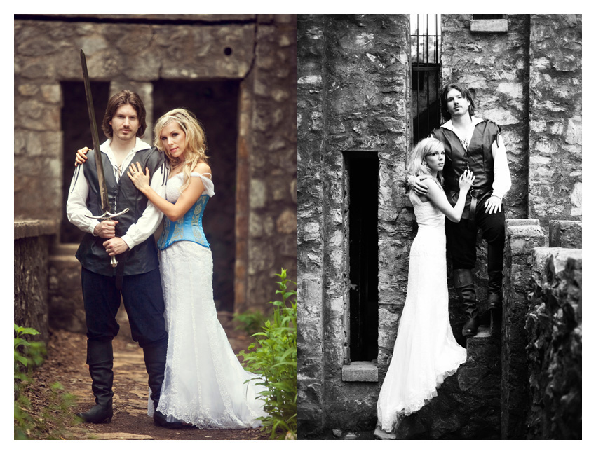 medieval renaissance ages era theme wedding bride & groom portrait day after session by Dallas wedding photographer Stacy Reeves