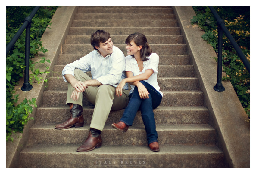engagement session of Ashley Edrington and Matt Ashbaugh in Highland Park by Plano wedding photographer Stacy Reeves