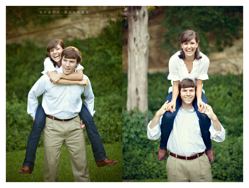 engagement session of Ashley Edrington and Matt Ashbaugh in Highland Park by Southlake wedding photographer Stacy Reeves