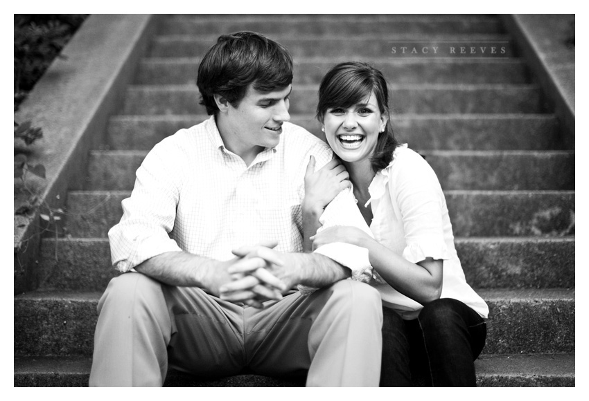 engagement session of Ashley Edrington and Matt Ashbaugh in Highland Park by Texas wedding photographer Stacy Reeves