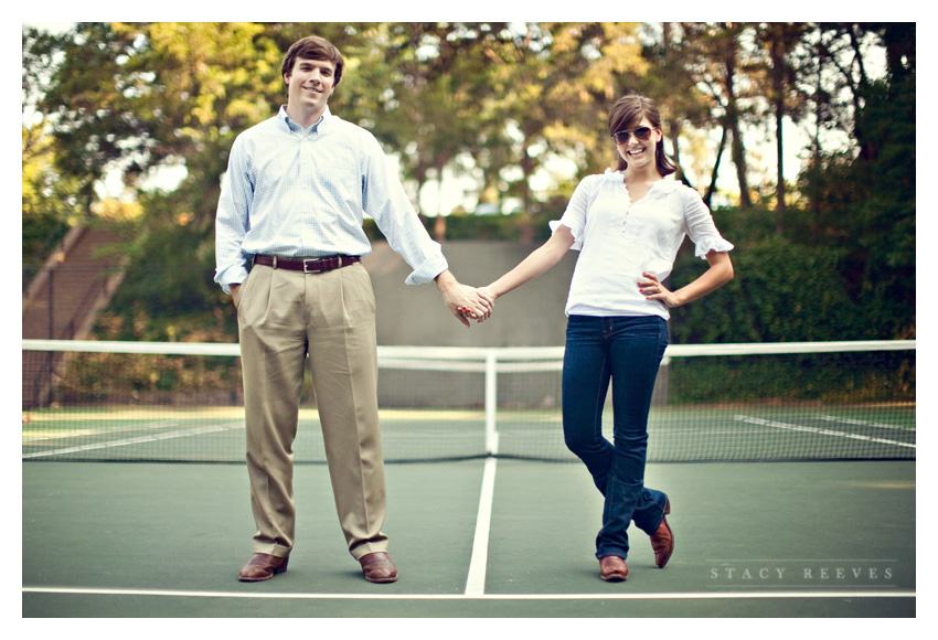 engagement session of Ashley Edrington and Matt Ashbaugh in Highland Park by Arkansas wedding photographer Stacy Reeves
