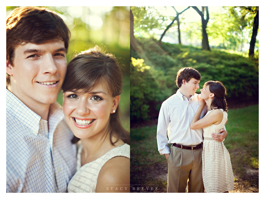 engagement session of Ashley Edrington and Matt Ashbaugh in Highland Park by University Park wedding photographer Stacy Reeves