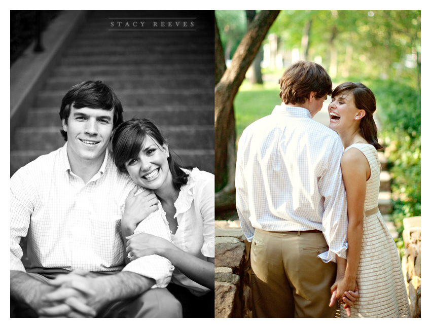 engagement session of Ashley Edrington and Matt Ashbaugh in Highland Park by uptown Dallas wedding photographer Stacy Reeves