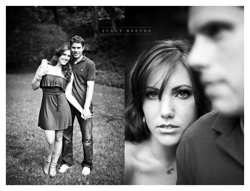 engagement session of Autumn Boatwright and Simon Harston in Highland Park by Dallas wedding photographer Stacy Reeves
