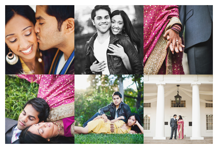 Engagement session photos of Jensy Jacob and Charles Abraham at Lee Park and Arlington Hall in Turtle Creek by Dallas wedding photographer Stacy Reeves
