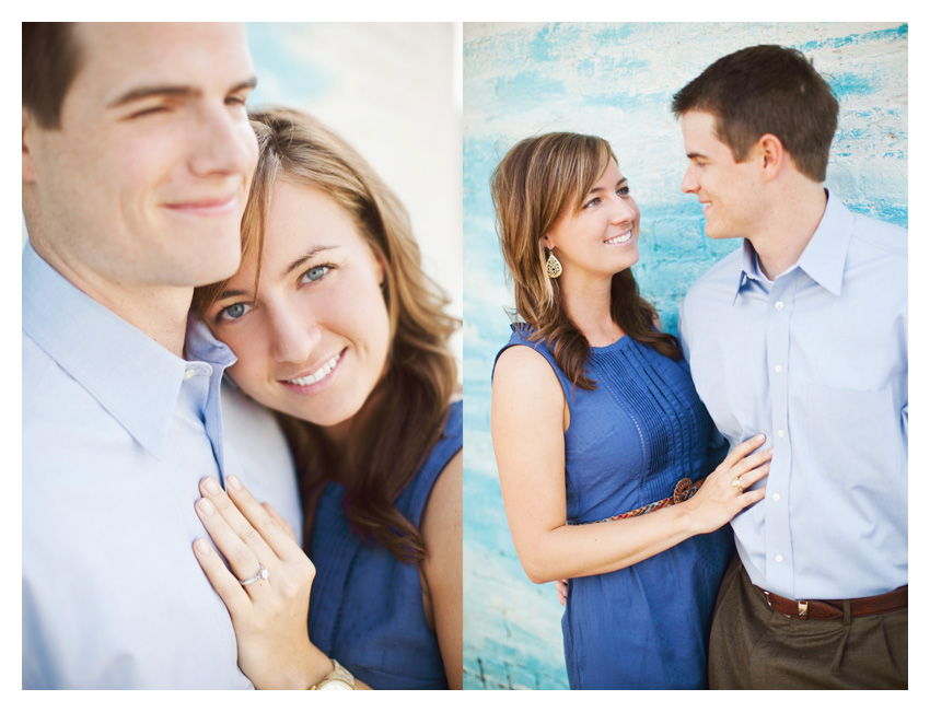 Rustic country equestrian engagement photo portrait session of Jessica Atkins and Rawley Farrell at Walking Tall horse ranch in Aubrey and Pilot Point Texas by Dallas wedding photographer Stacy Reeves