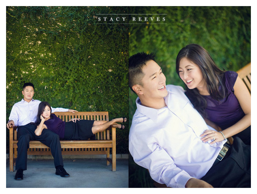 Engagement session of Lilly Lillian Kim and Brad Son at the Dallas Arboretum by Dallas wedding photographer Stacy Reeves