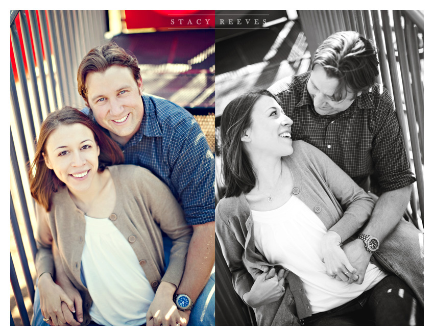 engagement session of Lisa Kirk and Grant Speer in Wal-Mart by Plano wedding photographer Stacy Reeves