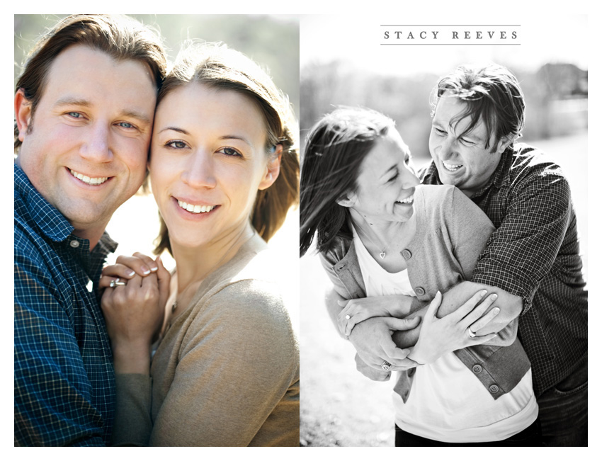 engagement session of Lisa Kirk and Grant Speer in Wal-Mart by Irving wedding photographer Stacy Reeves