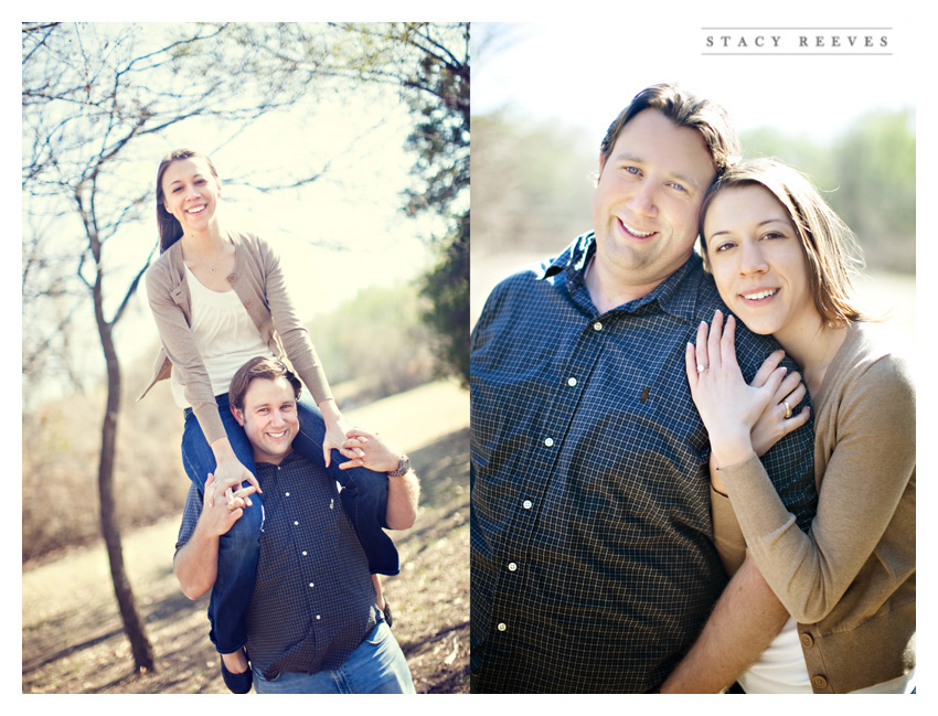 engagement session of Lisa Kirk and Grant Speer in Wal-Mart by Lewisville wedding photographer Stacy Reeves