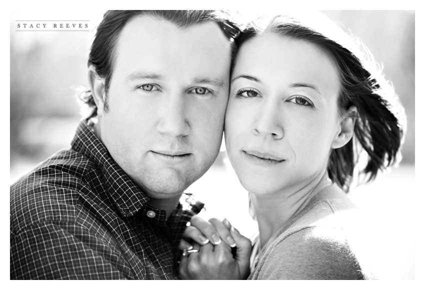 engagement session of Lisa Kirk and Grant Speer in Wal-Mart by Highland Park wedding photographer Stacy Reeves