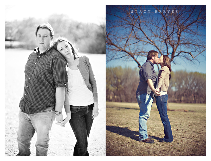 engagement session of Lisa Kirk and Grant Speer in Wal-Mart by Ft. Worth wedding photographer Stacy Reeves