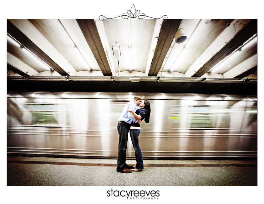 destination engagement session of Carrie Alexander and Preston Short in New York City by Dallas destination wedding photographer Stacy Reeves