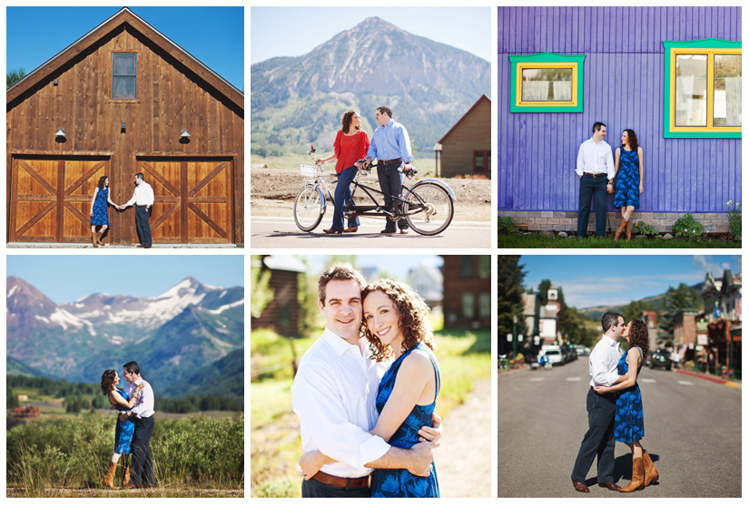 Engagement portrait photo session of Rachel Friedlander and Justin Grodin in Crested Butte Colorado by Dallas wedding photographer Stacy Reeves