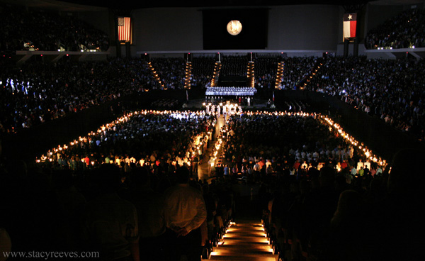 Photographs of the Texas A&M University Aggie Muster Ceremony  on April 21 at Reed Arena in College Station, TX by Dallas wedding  photographer Stacy Reeves