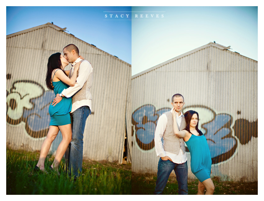 country engagement portrait session of Brittani Oliver and Corey Oliver by Dallas wedding Photographer Stacy Reeves