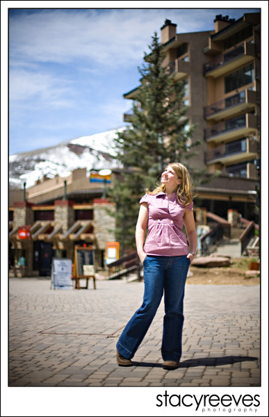 Portraits of Juls Sharpley in Vail Colorado near Denver by Dallas wedding photographer Stacy Reeves