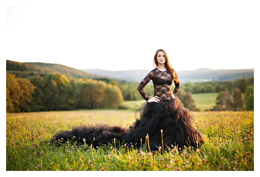 black haute couture wedding dress gown tulle tutu fashion photo portraits by Dallas wedding photographer Stacy Reeves
