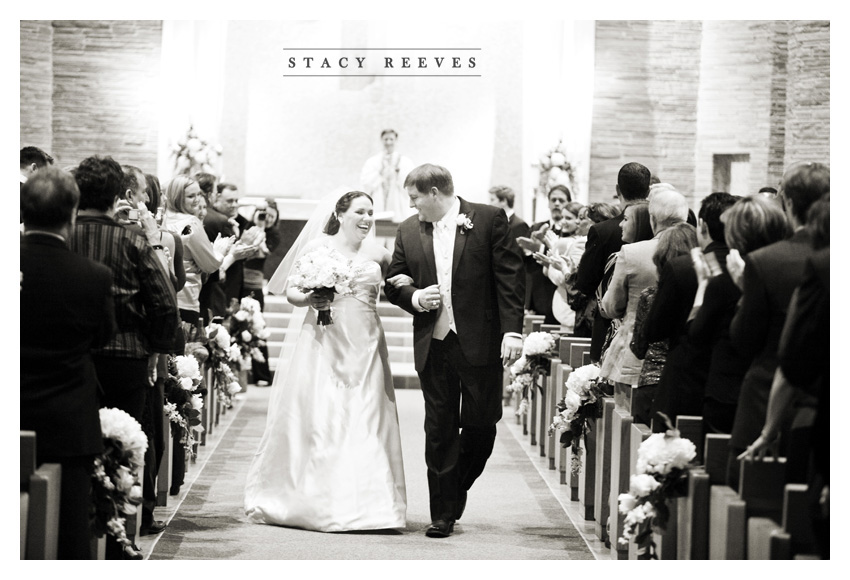 Carrie Alexander and Preston Short at Saint Rose of Lima Catholic Church and Union Station at Minute Maid Paid in Houston by Dallas wedding photographer Stacy Reeves