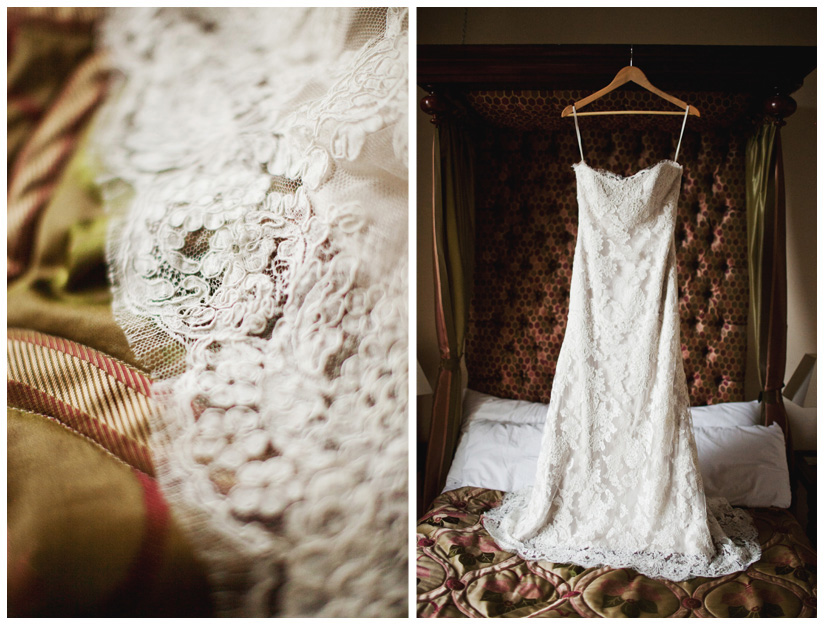 wedding dress in Dublin hotel by destination wedding photographer Stacy Reeves