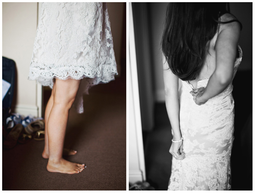lace wedding gown in Dublin Ireland by Dallas wedding photographer Stacy Reeves