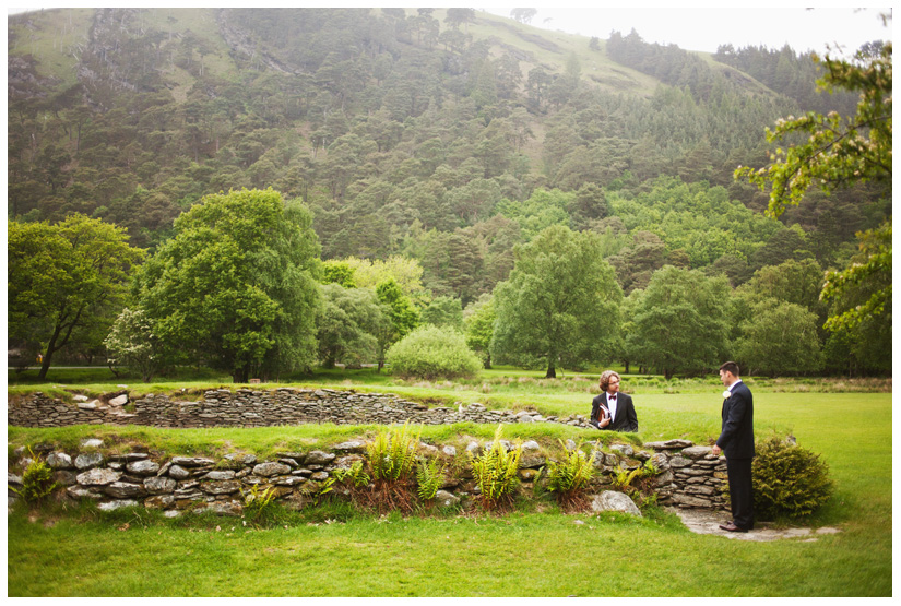 marriage wedding ceremony in ancient druid stone circle in Wicklow Mountains by destination wedding photographer Stacy Reeves