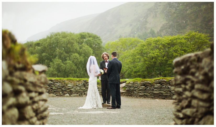 marriage wedding ceremony in ancient druid stone circle in Wicklow Mountains by Dallas wedding photographer Stacy Reeves