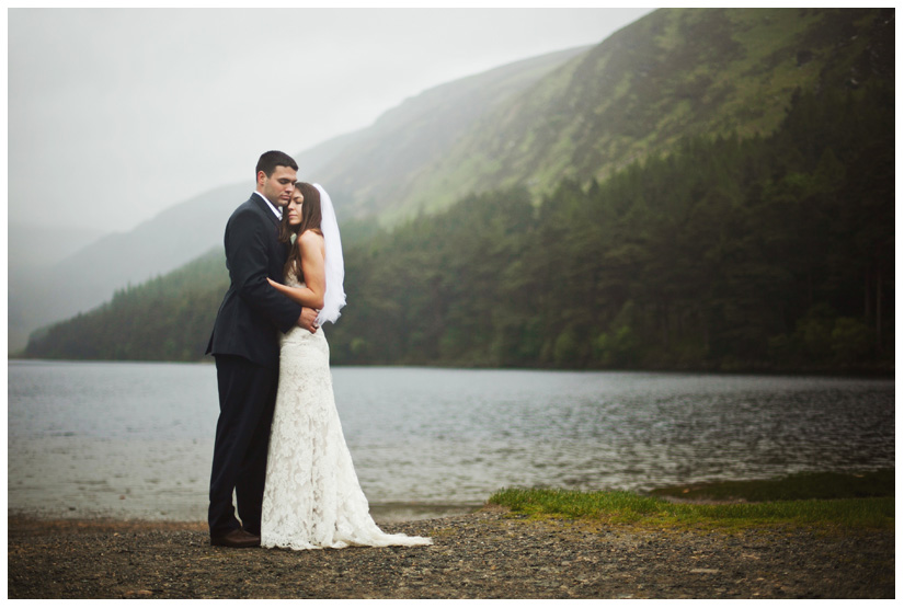 portraits of Erin Mazur and Tyler Hufstetler after eloping in the Wicklow Mountains, taken by wedding photographer Stacy Reeves