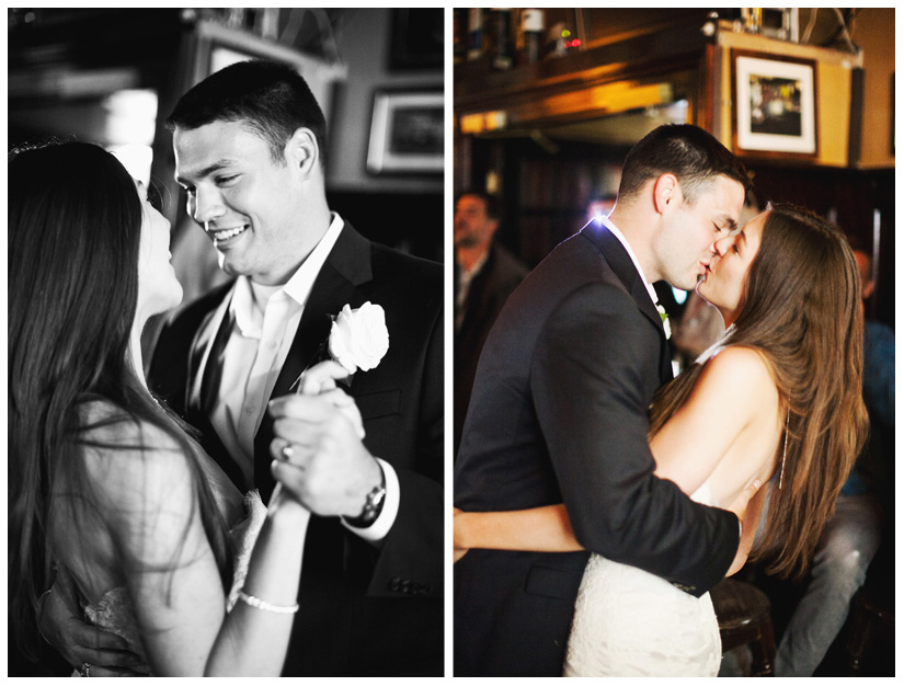 first dance of Erin Mazur and Tyler Hufstetler at Temple Bar in Dublin Ireland by Dallas wedding photographer Stacy Reeves