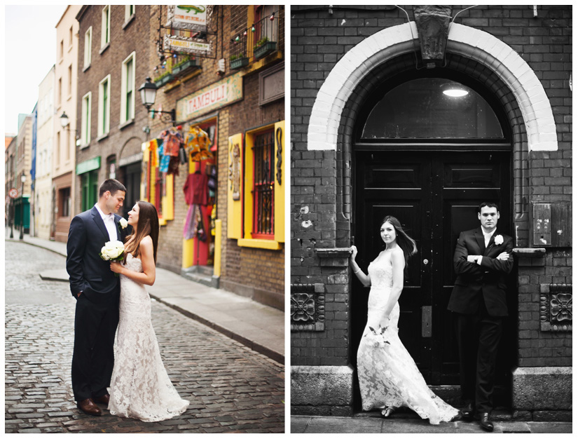 bride and groom portraits of Erin Mazur and Tyler Hufstetler in Dublin Ireland by destination wedding photographer Stacy Reeves
