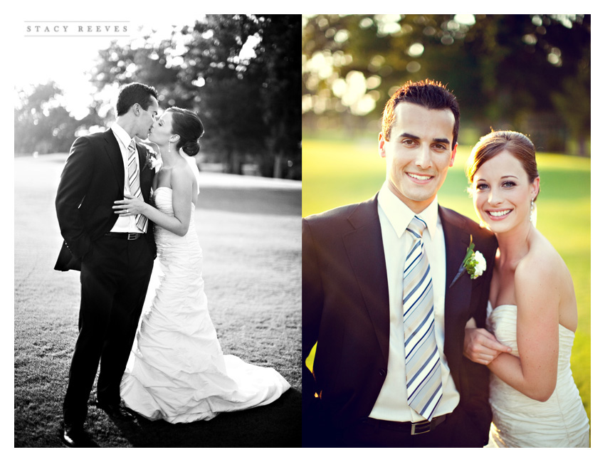 wedding photos of Heather Patterson and Anthony Simon at the Shadow Hawk Golf Club at the Houstonian Golf and Country Club in Richmond Texas by Dallas Wedding Photography Stacy Reeves