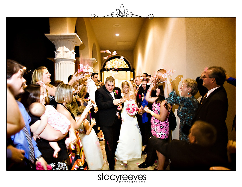 Julie Nienhiser and Jeff Cash wedding reception at Mediterranean Villa in Arlington Texas by Dallas Wedding Photographer Stacy Reeves