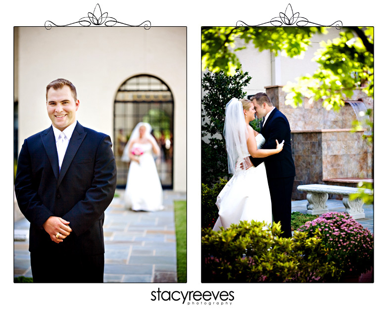 Julie Nienhiser and Jeff Cash get married at St. Ann's Catholic Church in Carrollton Texas by Dallas Wedding Photographer Stacy Reeves